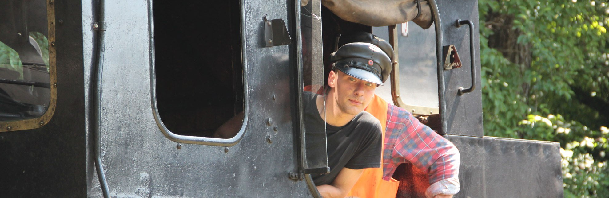 Dampflok Karoline mit Lokführer, Geesthacht, © Tourist-Information Geesthacht