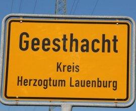 Ortseingangsschild von Geesthacht, © Tourist-Information Geesthacht