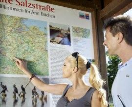 Kartenübersicht am Radfernweg Alte Salzstrasse, © photocompany