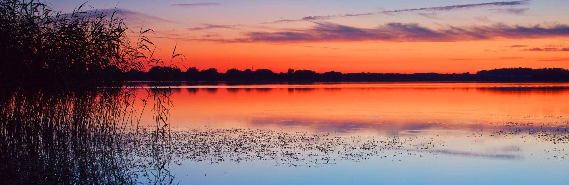Romantischer Sonnenuntergang am Mechower See., © Thomas Ebelt / HLMS GmbH