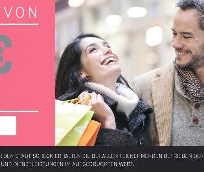 Stadt-Scheck Ratzeburg ist das Gutscheinsystem für den Ratzeburger Einzelhandel, Gewerbe und Gastronomie., © Bürgerstiftung Ratzeburg