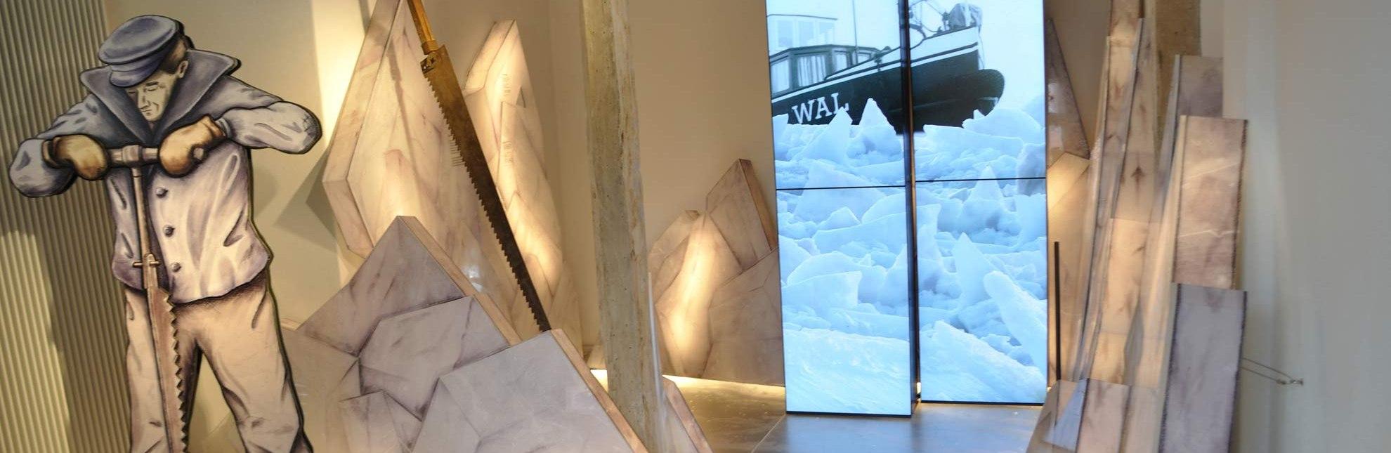 Eisgang auf der Elbe - erlebbar gemacht im Elbschifffahrtsmuseum., © Christin Kiepke / HLMS GmbH
