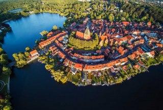 Luftbild von Mölln, © Thomas Ebelt / TI Mölln