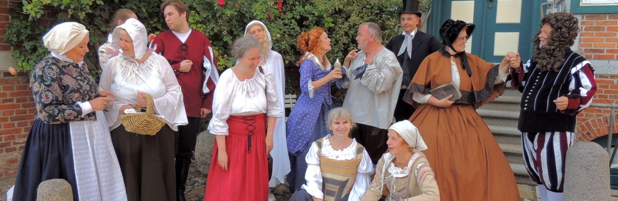 Schauspieler der Theatralen Stadtführung in Lauenburg., © Michael Kosog