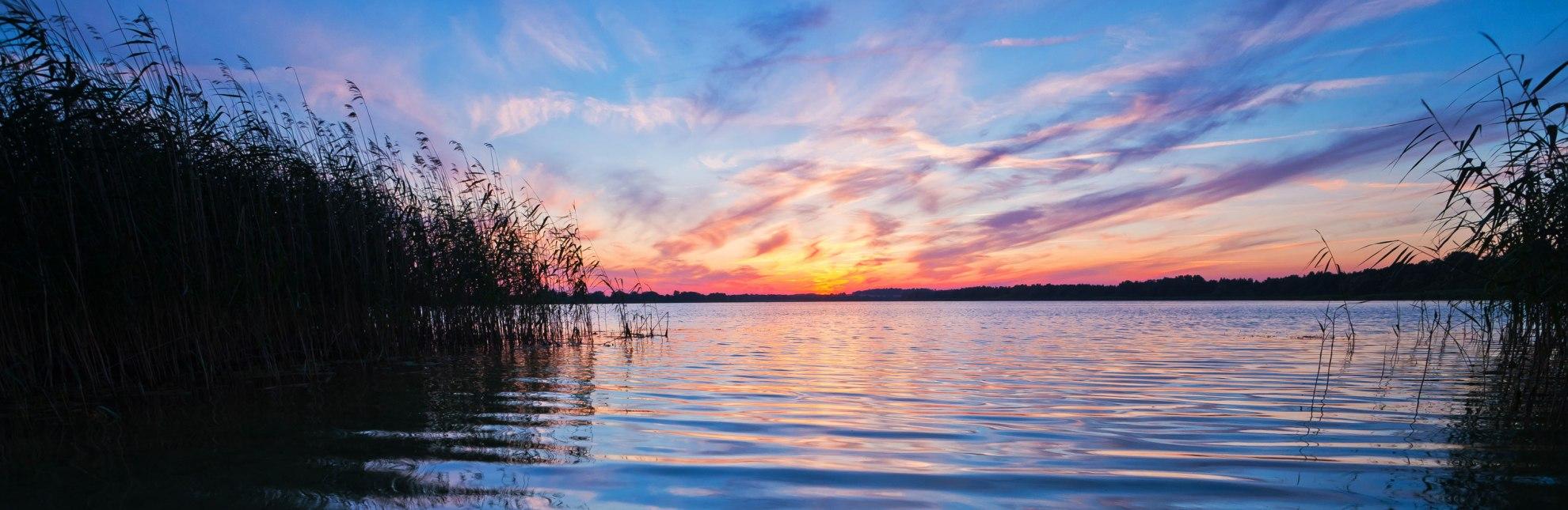 Sonnenuntergang am Mechower See, © Thomas Ebelt / HLMS GmbH
