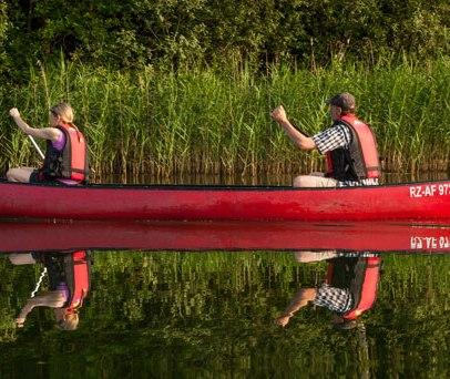 Mit dem Kanu unterwegs im Naturpark Lauenburgische Seen, © Nicole Franke