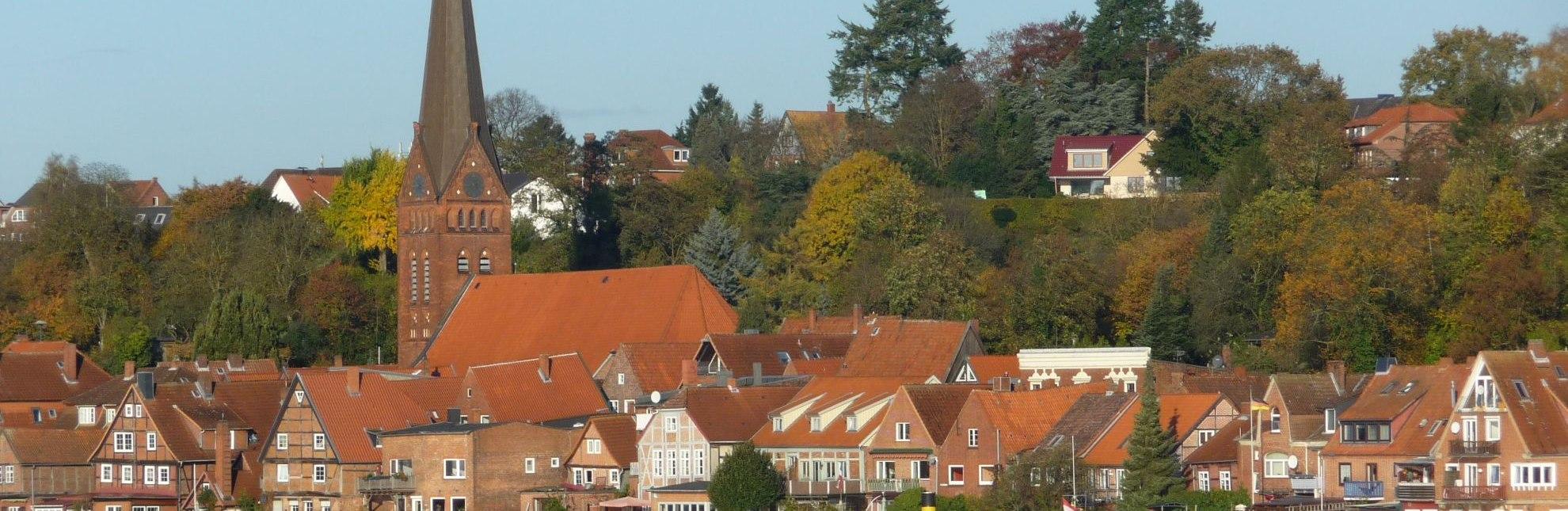 Herbstblick auf Lauenburg