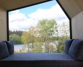 Ausblick aus dem Green Tiny House auf den Salemer See, © HLMS