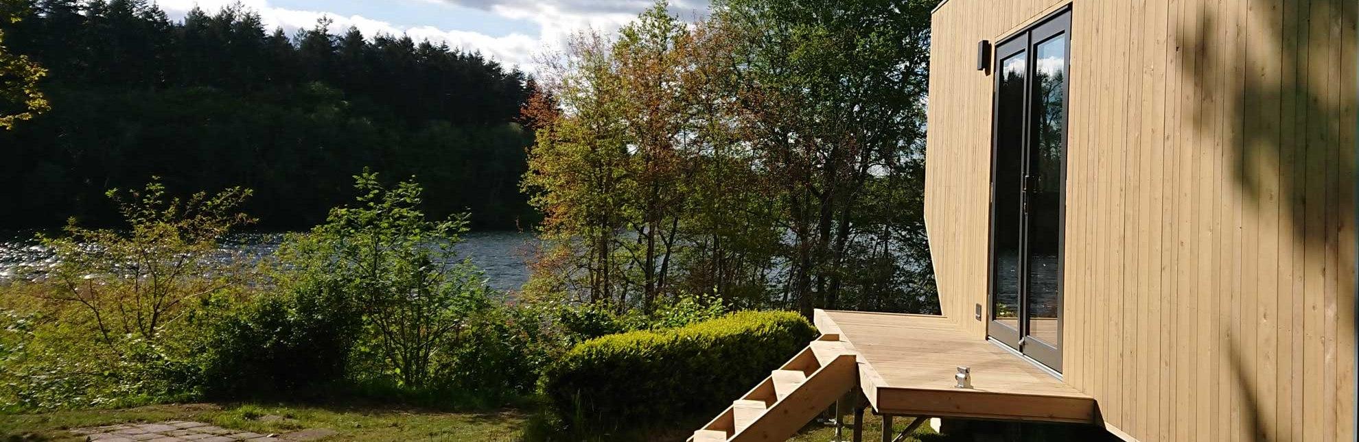 Das Green Tiny House befindet sich in unmittelbarer Nähe vom Salemer See., © HLMS GmbH