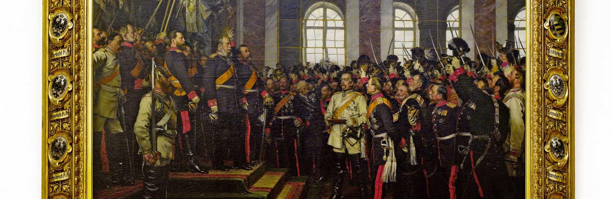 Kaum bekannt: Im Bismarck-Museum in Friedrichsruh im Sachsenwald befindet sich das berühmte Gemälde von der Proklamation des deutschen Kaiserreiches., © Bismarck-Museum