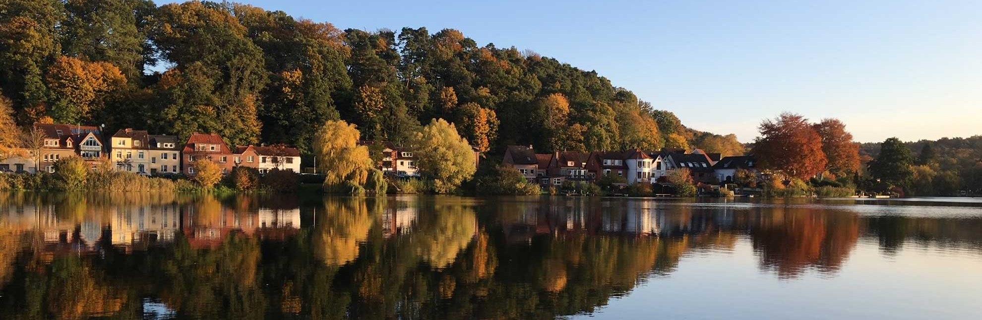 Blick auf den Möllner Schulsee, © Carina Jahnke