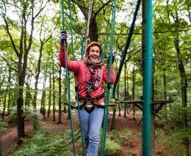 Kletterspaß im Hochseilgarten im Sachsenwald, © sh-tourismus.de/MOCANOX