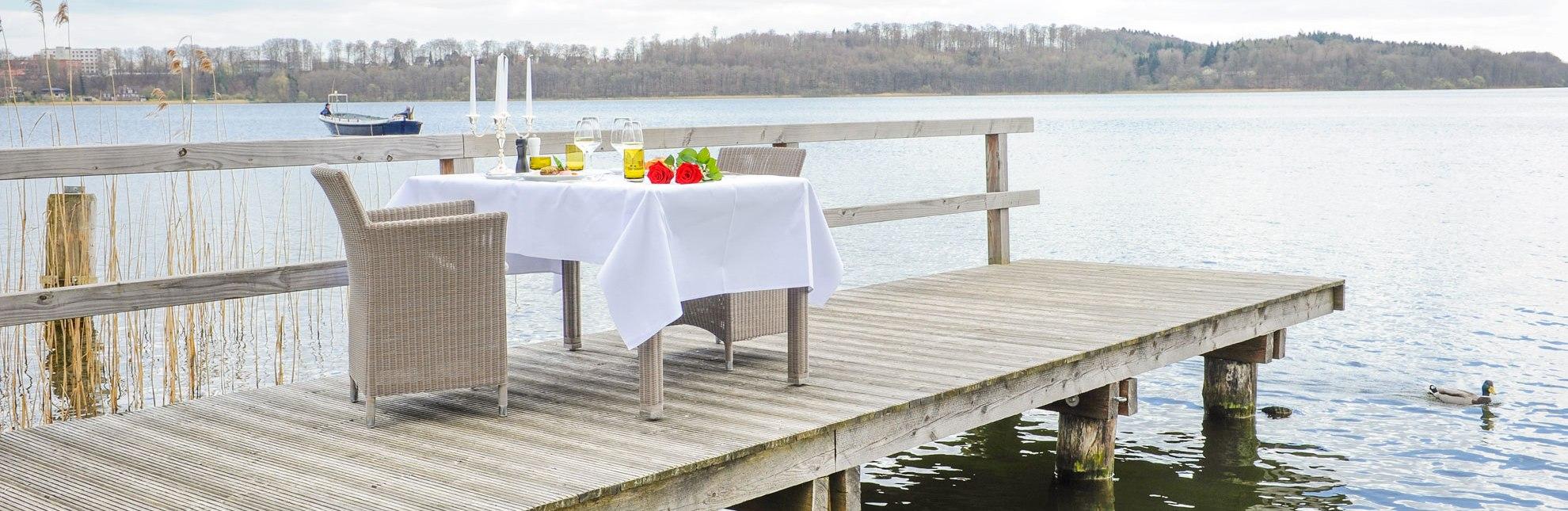 Dinner am See Hotel Der Seehof, © Nicole Franke/HLMS